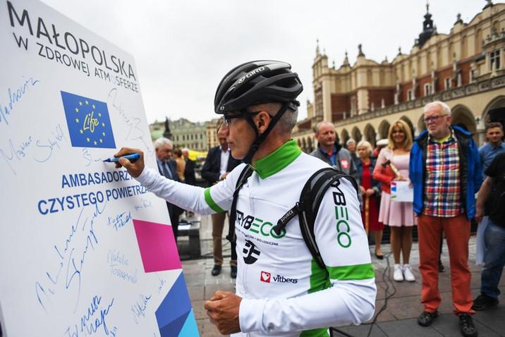 Valerjan Romanovski jako ambasador czystego powietrza w Małopolsce
