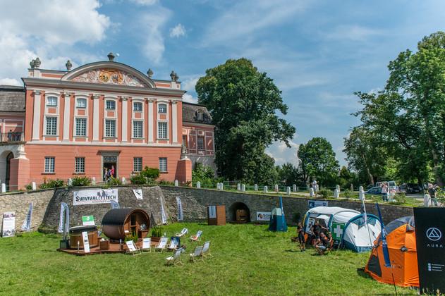 Pałac w Kurozwękach. Sauna