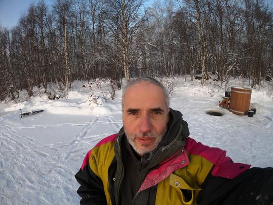 spacer po rzece Ounasjoki