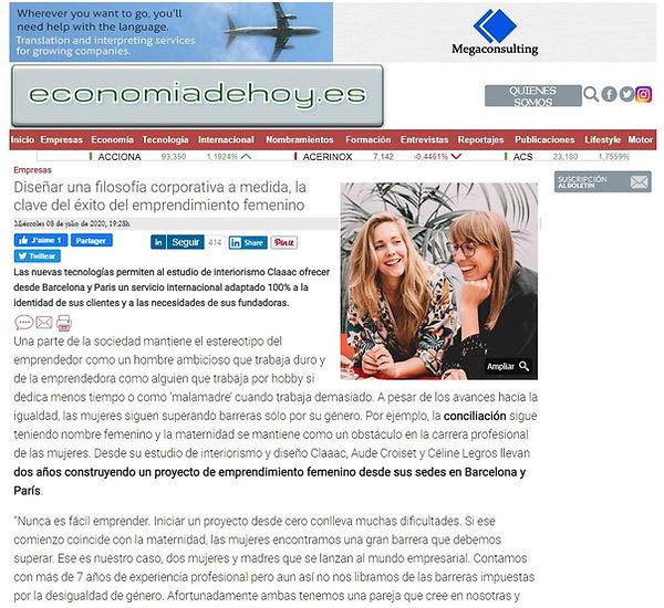 publication - Economia de hoy.JPG