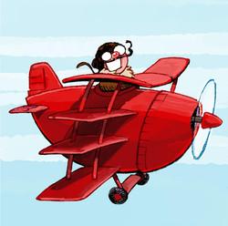 Der Kleine Baron - red plane
