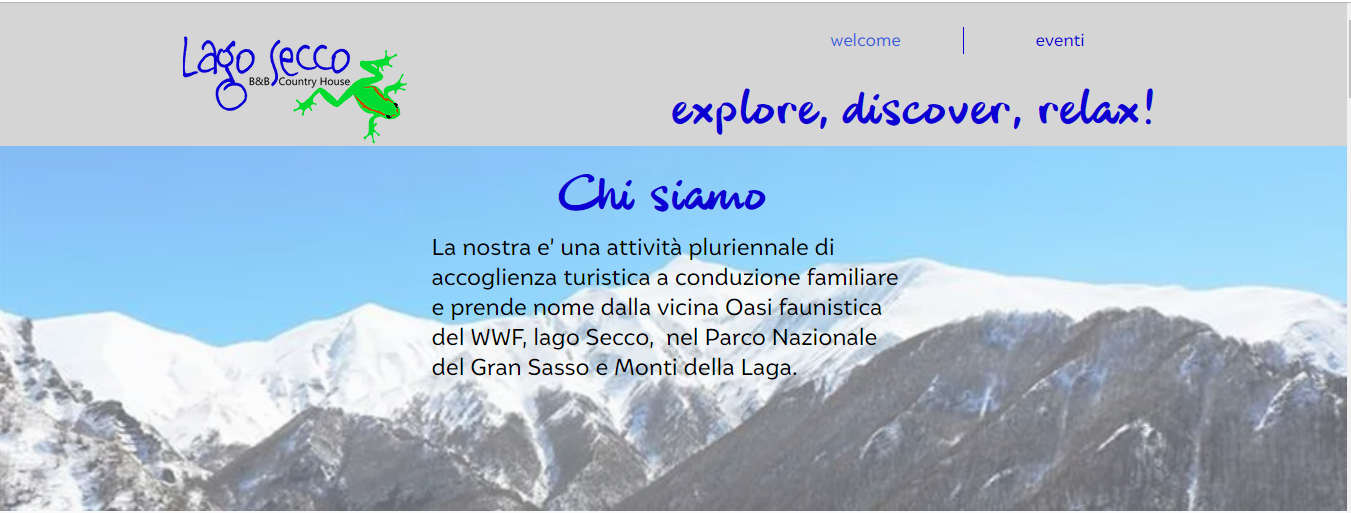 Lago Secco B&B /country housewebsite