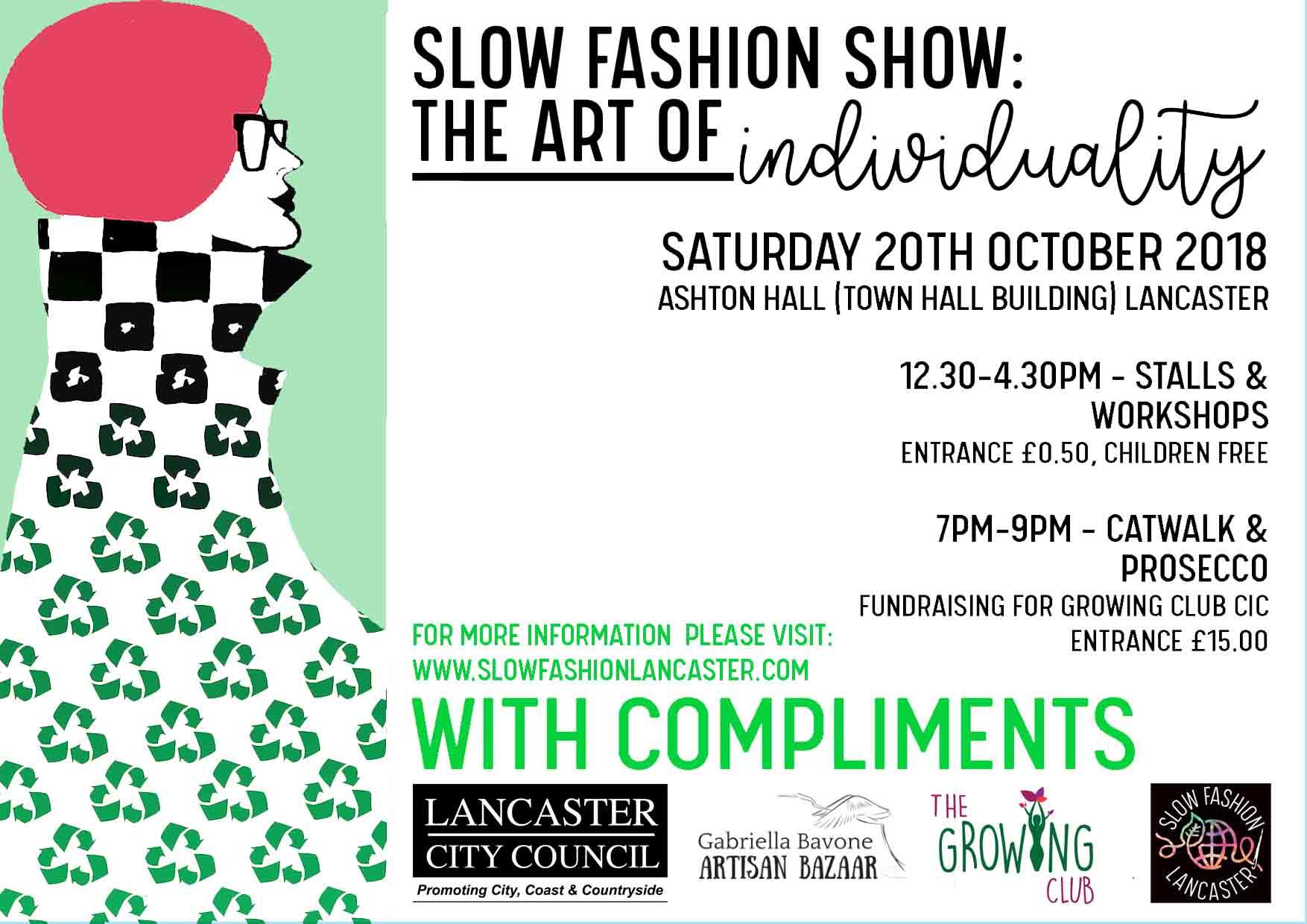 Slow Fashion Show A5 leaflet