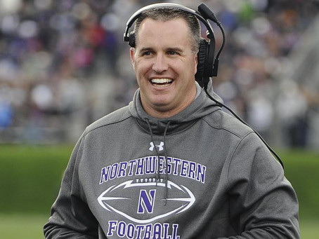 Coach Pat Fitzgerald is the recipient of the 2021 Stallings Award