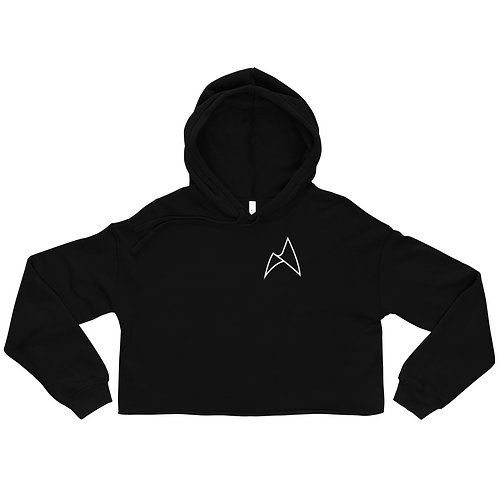 ARC NORTH CROP HOODIE - BLACK