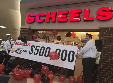 SCHEELS and local store members give $500,000 to capital campaign for Minot's new Children's Museum