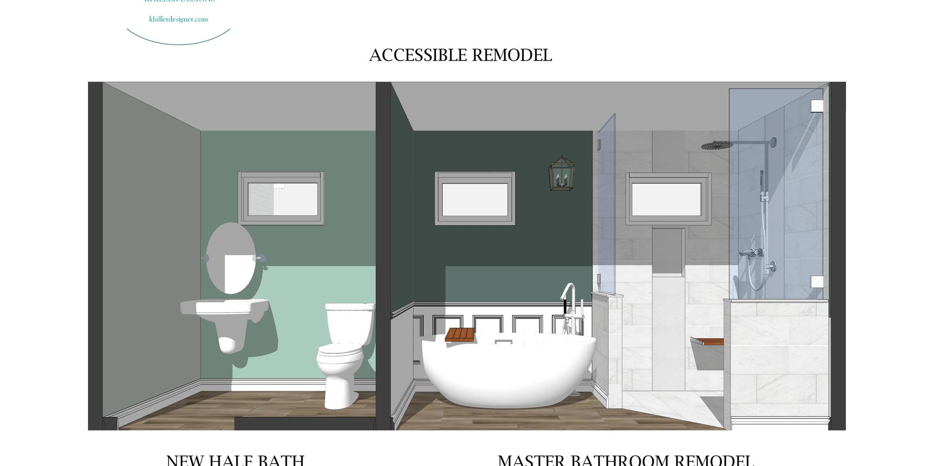 Master Bath & Half-Bath Concept Design