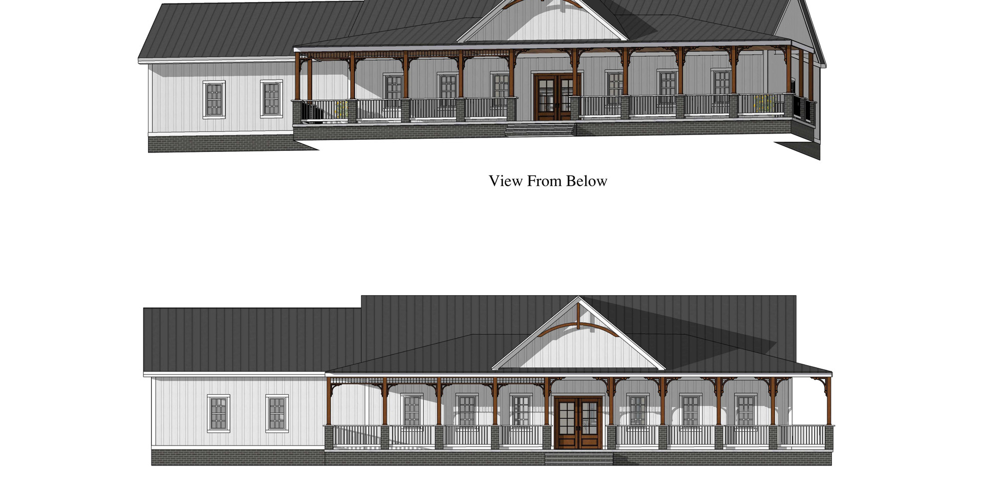 New One-Level Farmhouse 1,600 SF
