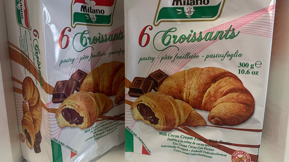 Milano 6pk Chocolate filled Croissant - Product of Italy