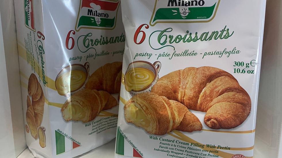 Milano 6pk Custard filled Croissant - Product of Italy