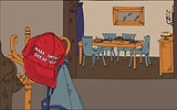 """A """"Make America Great Again"""" hat next to a Thanksgiving table"""