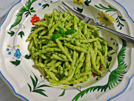 Pesto (a classic pasta sauce from Liguria)