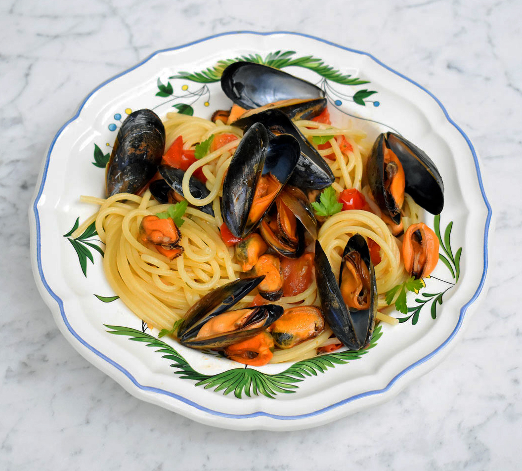 Spaghetti alle cozze (mussels)
