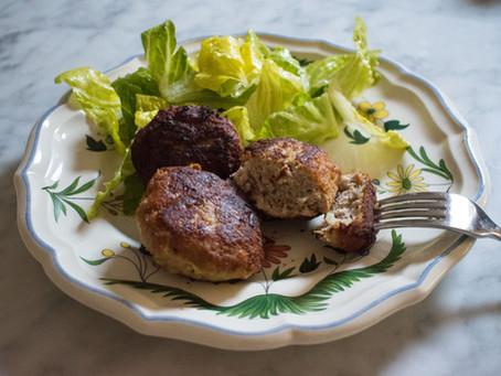 Faširane šnicle (pork burgers)