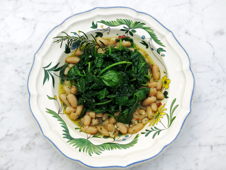 Cannellini beans, fresh spinach, rosemary, chilli and lemon