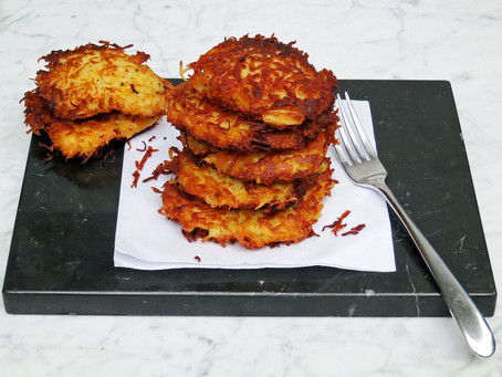 Potato latkes (potato rosti)