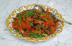 Vegetables jardinière with bacon lardons