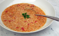 Chicken, pasta and fresh tomato soup