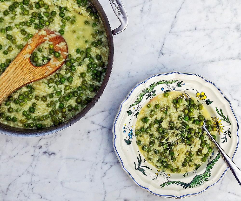 Risi e Bisi (fresh pea risotto)
