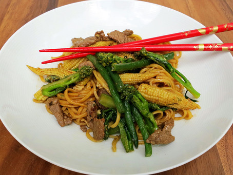 Chinese beef noodles