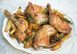 Bistro style roast chicken & potatoes