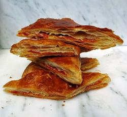 Chorizo, gruyere and mustard puff pastry bites