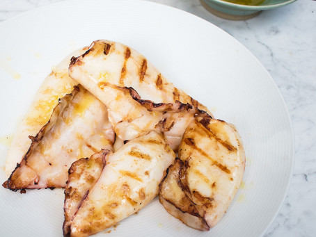 Want to know how to cook juicy tender chargrilled squid?