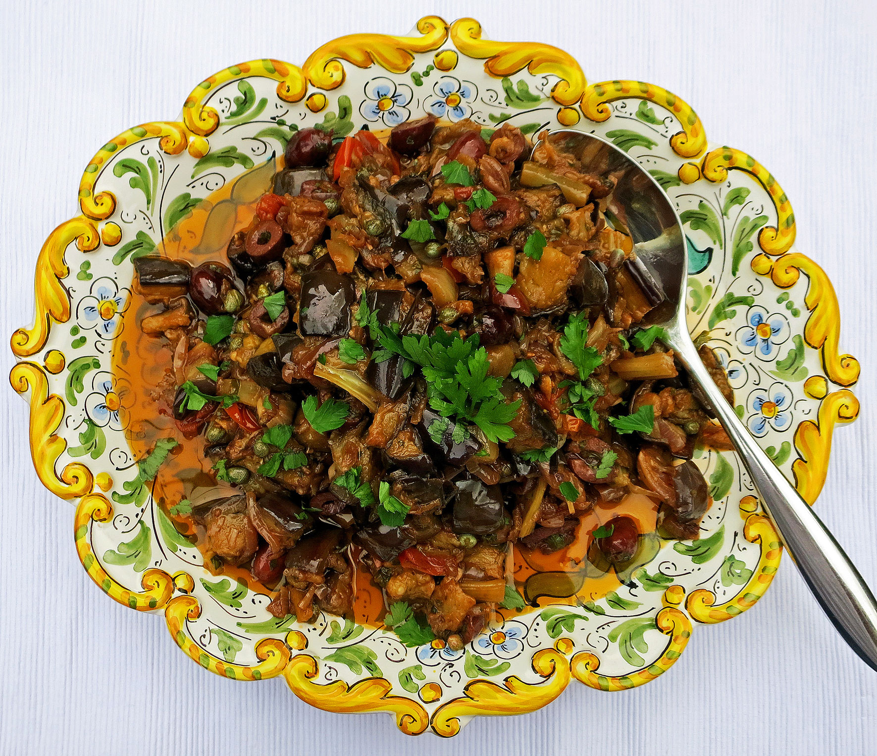 Caponata (Sicilian slow cooked aubergines)