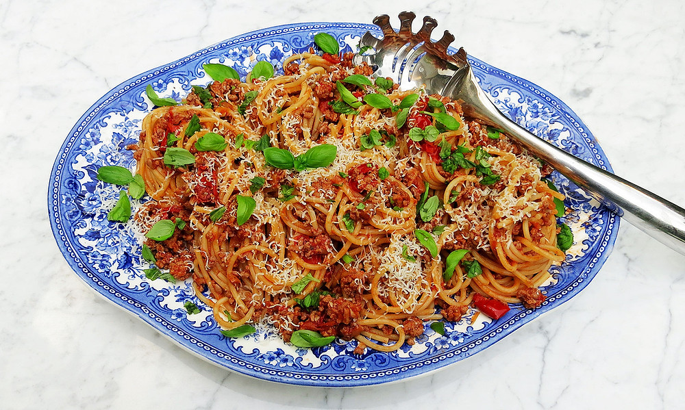 Pork ragù with spaghetti