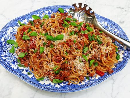 Pork ragù with spaghetti
