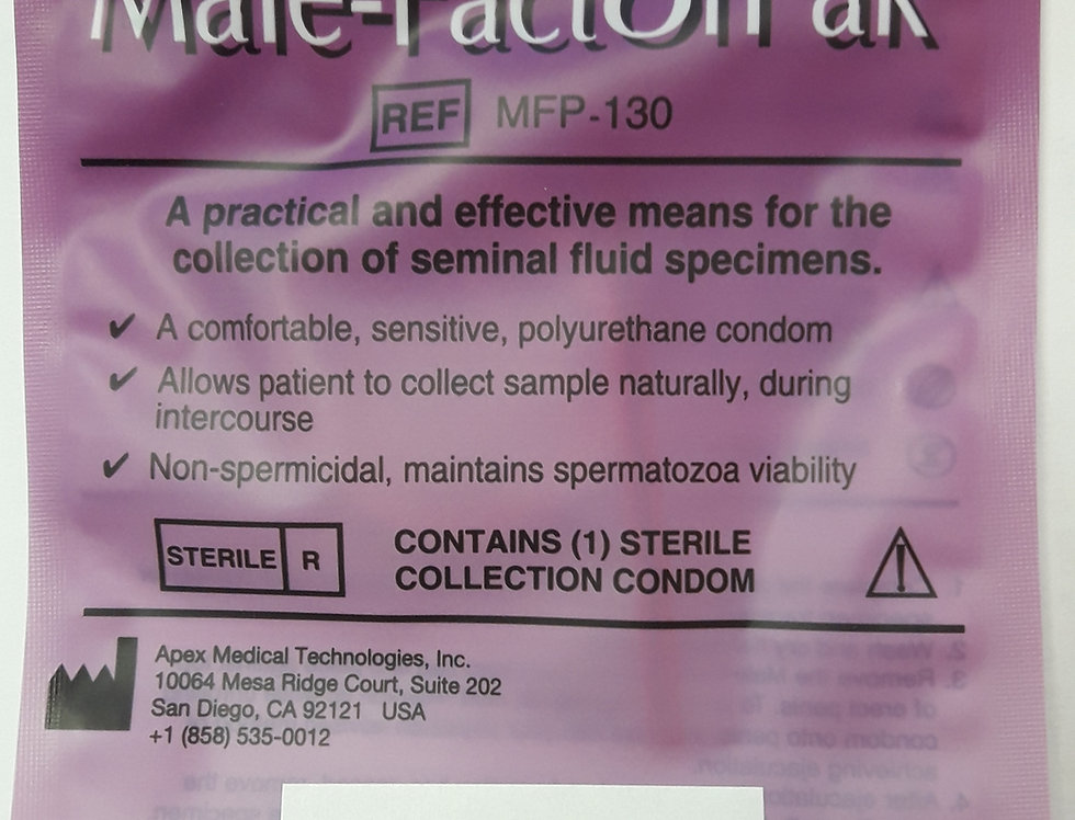 Seminal Fluid Collection Kit W/Lubrication