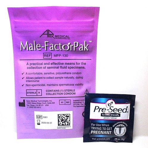 Male Factor Pak & Pre-Seed 2 each/ no refund