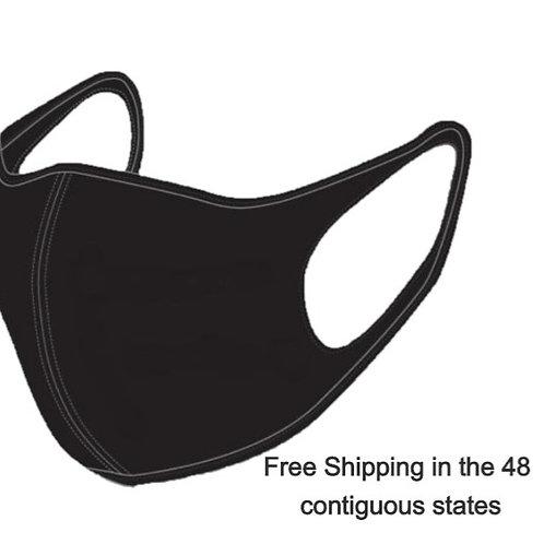 Plain, Black, Cotton Mask Free Domestic Shipping