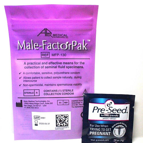 Male-Factor Pak With Pre-seed Lubrication (5 each)
