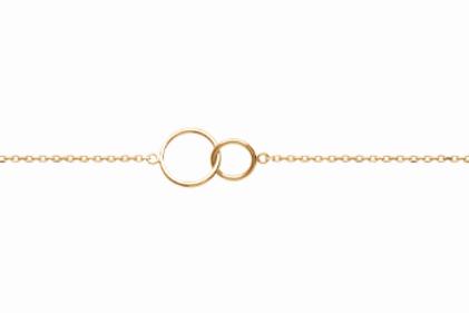 Bracelet - Double Cercles Entrelacés