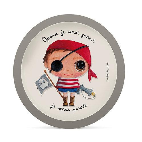 Assiette Bambou - Pirate