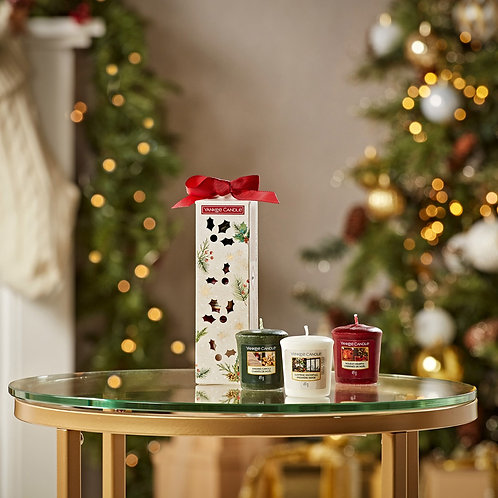 Cracker Noël 3 Votives - Yankee Candle