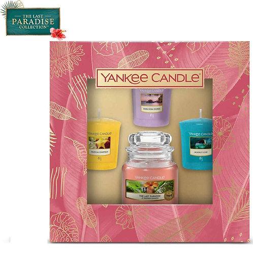 Coffret 3 votives et 1 petite jarre - The Last Paradise - Yankee Candle