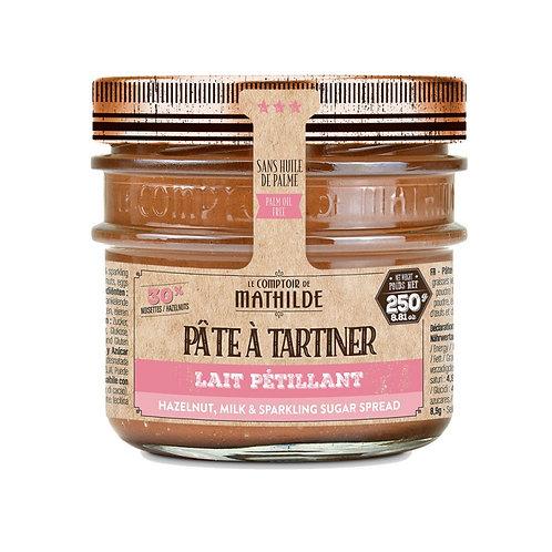 Lait Noisette Pétillant 250g - Pâte à Tartiner - Comptoir de Mathilde