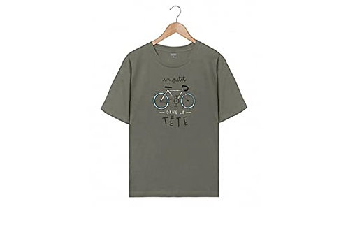 Tee-Shirt Homme - Un p'tit Vélo dans la tête - Fabrication Française