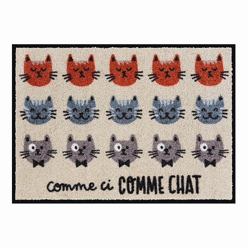 Tapis de patio LEMIYO Comme ci comme chat - DLP