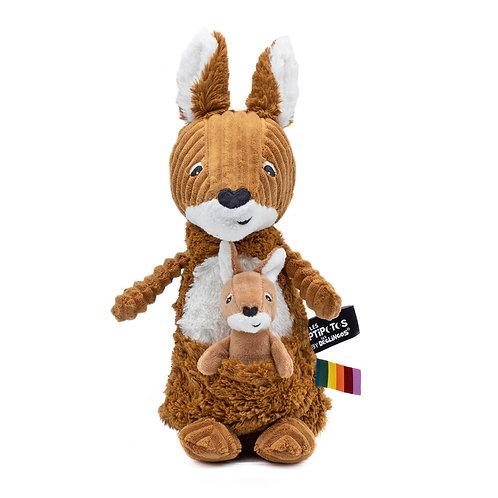 Peluche Ptipotos le kangourou cassonade - Les Déglingos