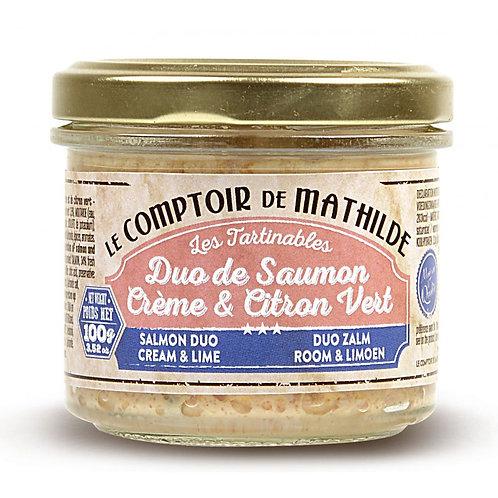 Tartinable - Duo de Saumon Crème et Citron Vert