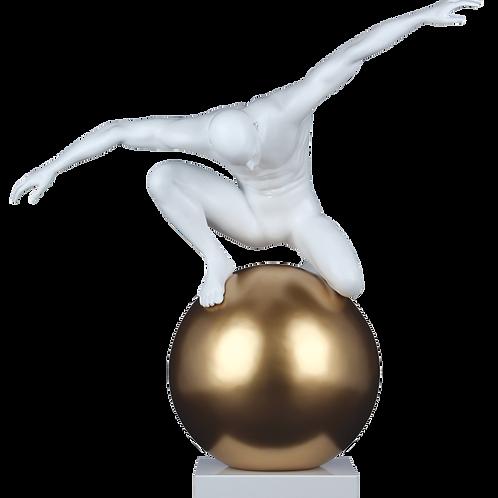 Statue Globe - H.48cm