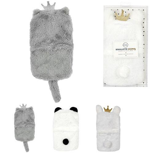 Bouillotte 1 Litre Cocooning - Panda, Chat ou Lama