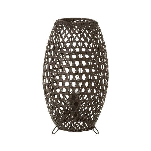 Lampe noire bambou / métal
