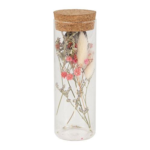 Fiolle Fleurs Séchées Limonium D5 x h14cm
