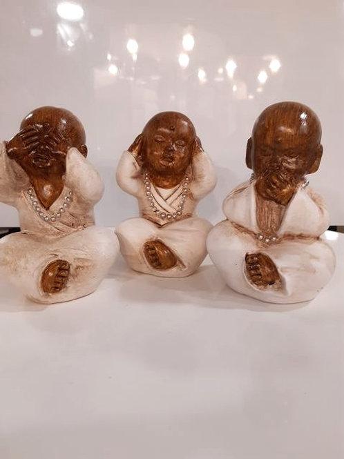 Trio Bouddha - Marron et Beige