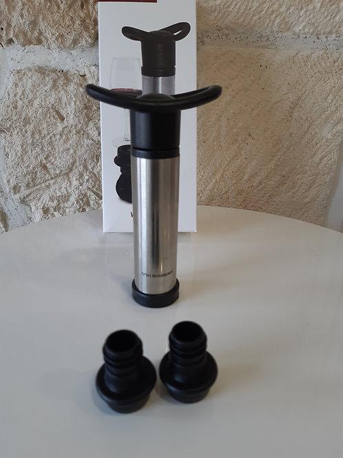 Coffret Pompe à vide air / 2 Bouchons