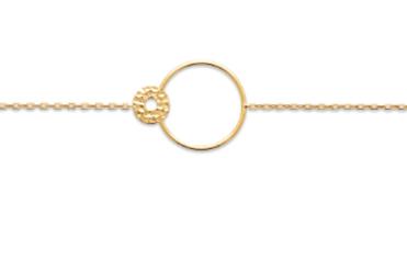 Bracelet - Double Cercle Ajouré / Martelé